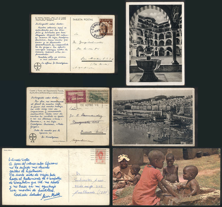 Lot 23 - TOPIC MEDICINE postal history -  Guillermo Jalil - Philatino Auction #1920 WORLDWIDE + ARGENTINA: General May auction