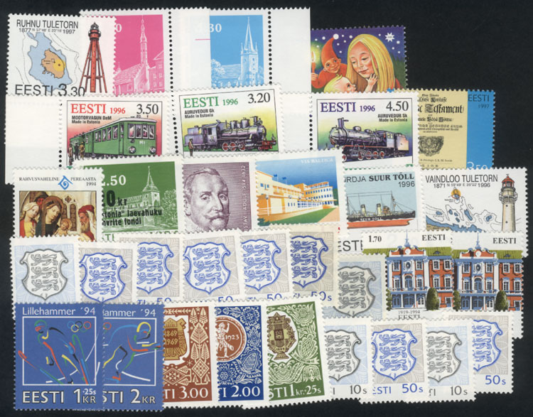 Lot 1056 - estonia Lots and Collections -  Guillermo Jalil - Philatino Auction #1920 WORLDWIDE + ARGENTINA: General May auction