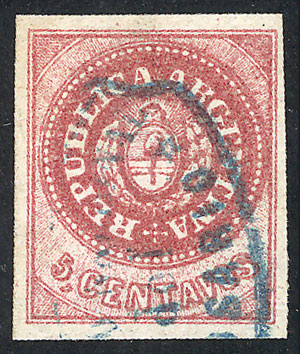 Lot 37 - Argentina escuditos -  Guillermo Jalil - Philatino Auction #1922 ARGENTINA: General auction with very low starts!