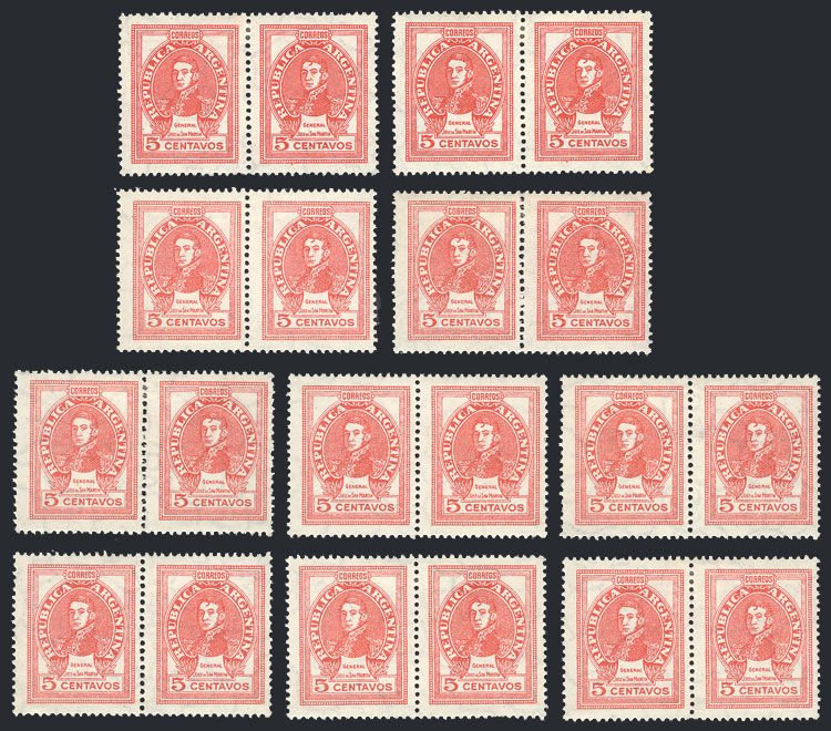 Lot 353 - Argentina general issues -  Guillermo Jalil - Philatino Auction #1922 ARGENTINA: General auction with very low starts!