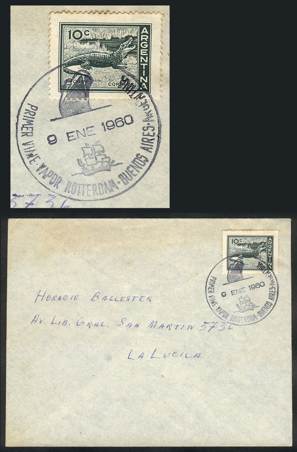 Lot 792 - Argentina postal history -  Guillermo Jalil - Philatino Auction #1922 ARGENTINA: General auction with very low starts!