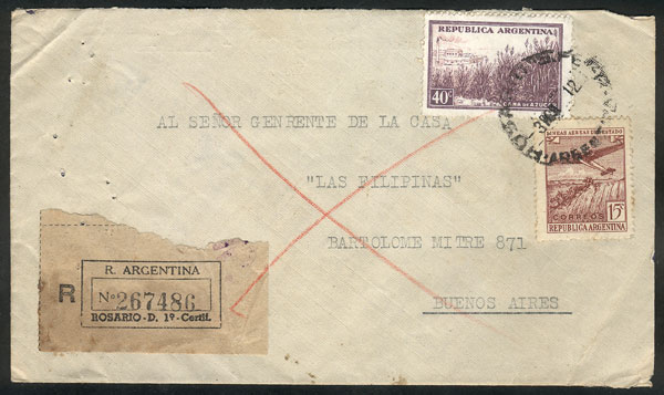 Lot 773 - Argentina postal history -  Guillermo Jalil - Philatino Auction #1922 ARGENTINA: General auction with very low starts!