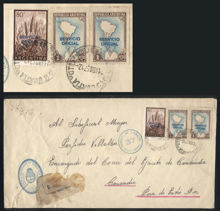 Lot 784 - Argentina postal history -  Guillermo Jalil - Philatino Auction #1922 ARGENTINA: General auction with very low starts!