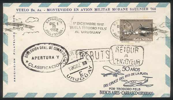 Lot 801 - Argentina postal history -  Guillermo Jalil - Philatino Auction #1922 ARGENTINA: General auction with very low starts!