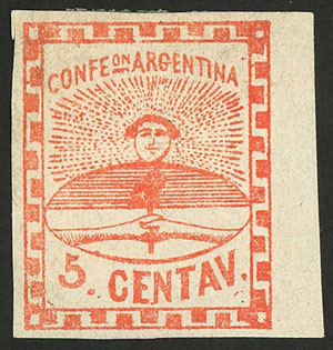 Lot 24 - Argentina confederation -  Guillermo Jalil - Philatino Auction #1922 ARGENTINA: General auction with very low starts!