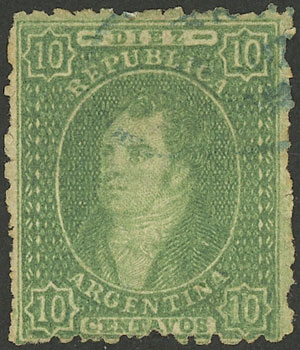 Lot 55 - Argentina rivadavias -  Guillermo Jalil - Philatino Auction #1922 ARGENTINA: General auction with very low starts!