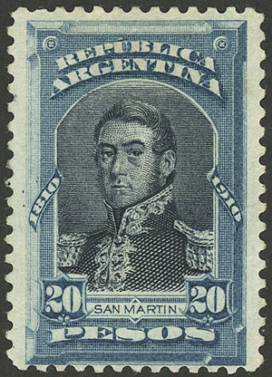 Lot 187 - Argentina general issues -  Guillermo Jalil - Philatino Auction #1922 ARGENTINA: General auction with very low starts!