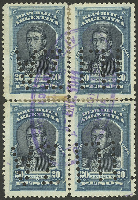 Lot 189 - Argentina general issues -  Guillermo Jalil - Philatino Auction #1922 ARGENTINA: General auction with very low starts!