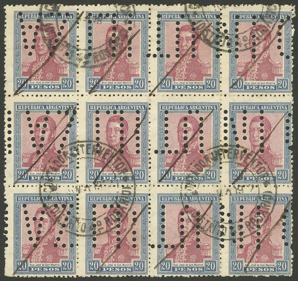 Lot 214 - Argentina general issues -  Guillermo Jalil - Philatino Auction #1922 ARGENTINA: General auction with very low starts!