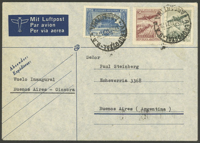 Lot 771 - Argentina postal history -  Guillermo Jalil - Philatino Auction #1922 ARGENTINA: General auction with very low starts!