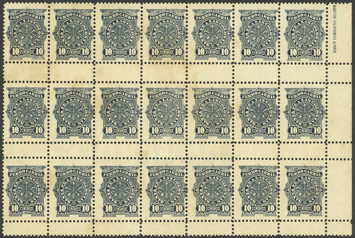 Lot 708 - Argentina telegraph stamps -  Guillermo Jalil - Philatino Auction #1922 ARGENTINA: General auction with very low starts!