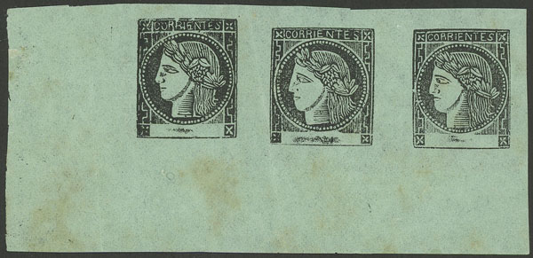 Lot 12 - Argentina corrientes -  Guillermo Jalil - Philatino Auction #1922 ARGENTINA: General auction with very low starts!