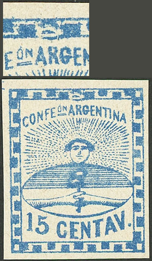 Lot 28 - Argentina confederation -  Guillermo Jalil - Philatino Auction #1922 ARGENTINA: General auction with very low starts!