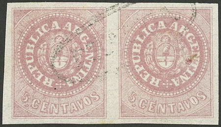 Lot 33 - Argentina escuditos -  Guillermo Jalil - Philatino Auction #1922 ARGENTINA: General auction with very low starts!