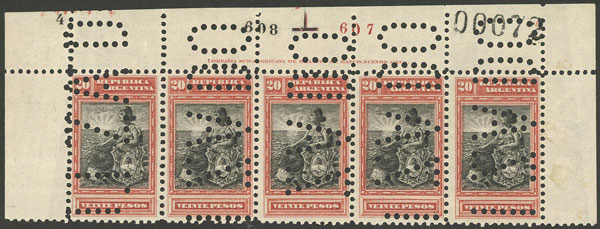 Lot 172 - Argentina general issues -  Guillermo Jalil - Philatino Auction #1922 ARGENTINA: General auction with very low starts!