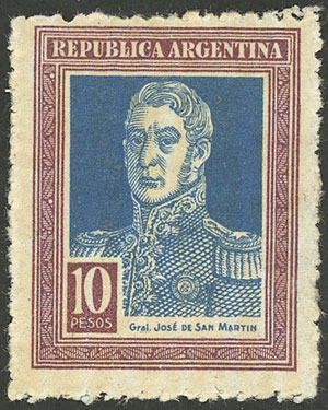 Lot 235 - Argentina general issues -  Guillermo Jalil - Philatino Auction #1922 ARGENTINA: General auction with very low starts!