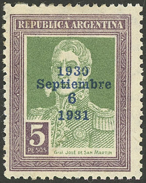 Lot 260 - Argentina general issues -  Guillermo Jalil - Philatino Auction #1922 ARGENTINA: General auction with very low starts!