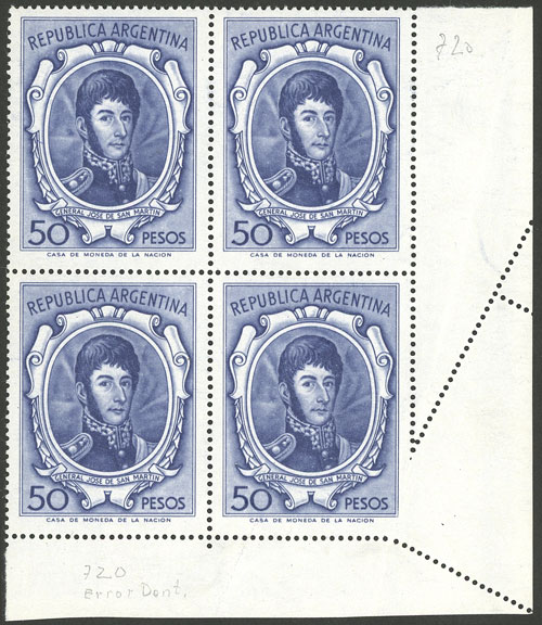 Lot 498 - Argentina general issues -  Guillermo Jalil - Philatino Auction #1922 ARGENTINA: General auction with very low starts!