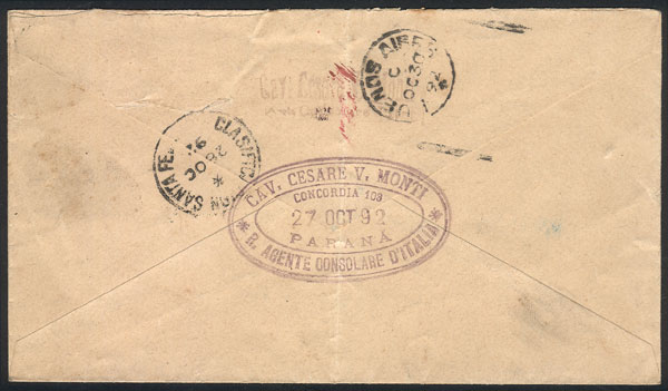 Lot 741 - Argentina postal history -  Guillermo Jalil - Philatino Auction #1922 ARGENTINA: General auction with very low starts!