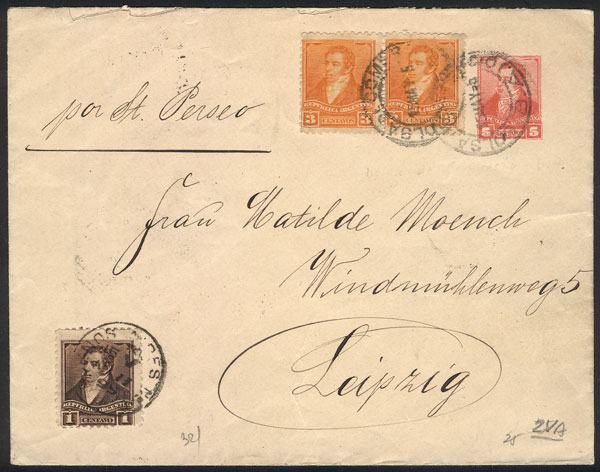 Lot 745 - Argentina postal history -  Guillermo Jalil - Philatino Auction #1922 ARGENTINA: General auction with very low starts!