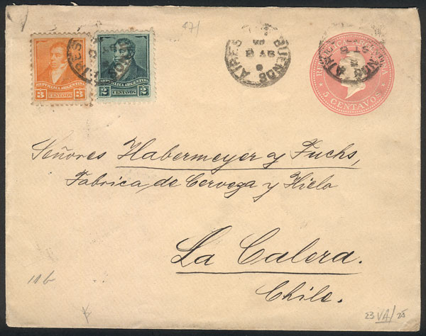 Lot 748 - Argentina postal history -  Guillermo Jalil - Philatino Auction #1922 ARGENTINA: General auction with very low starts!