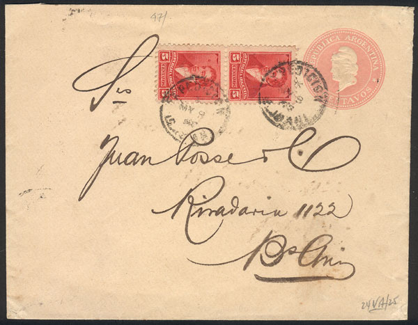 Lot 747 - Argentina postal history -  Guillermo Jalil - Philatino Auction #1922 ARGENTINA: General auction with very low starts!