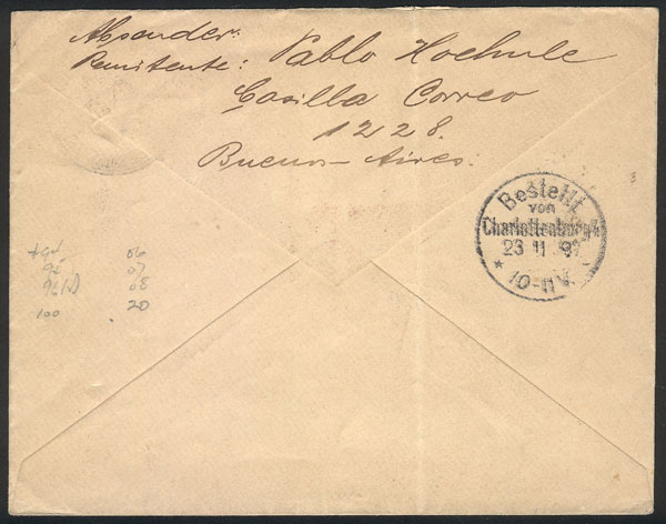 Lot 749 - Argentina postal history -  Guillermo Jalil - Philatino Auction #1922 ARGENTINA: General auction with very low starts!