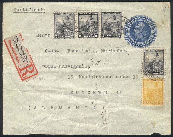 Lot 752 - Argentina postal history -  Guillermo Jalil - Philatino Auction #1922 ARGENTINA: General auction with very low starts!
