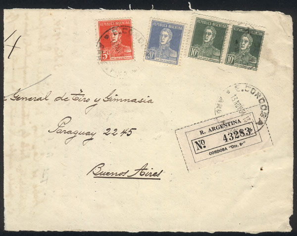 Lot 759 - Argentina postal history -  Guillermo Jalil - Philatino Auction #1922 ARGENTINA: General auction with very low starts!