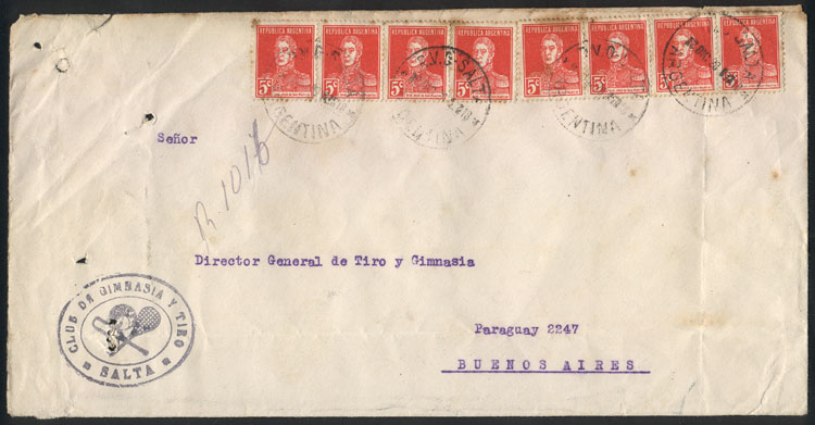 Lot 757 - Argentina postal history -  Guillermo Jalil - Philatino Auction #1922 ARGENTINA: General auction with very low starts!