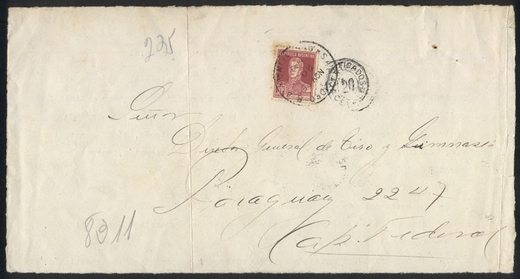 Lot 760 - Argentina postal history -  Guillermo Jalil - Philatino Auction #1922 ARGENTINA: General auction with very low starts!