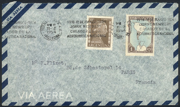 Lot 778 - Argentina postal history -  Guillermo Jalil - Philatino Auction #1922 ARGENTINA: General auction with very low starts!
