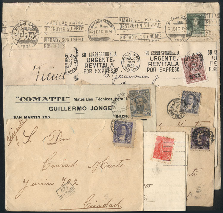 Lot 758 - Argentina postal history -  Guillermo Jalil - Philatino Auction #1922 ARGENTINA: General auction with very low starts!