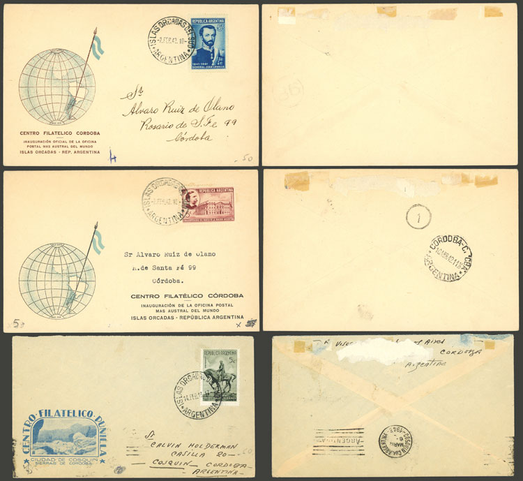 Lot 1 - argentine antarctica postal history -  Guillermo Jalil - Philatino Auction #1922 ARGENTINA: General auction with very low starts!
