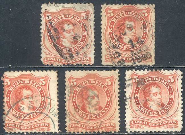 Lot 87 - Argentina general issues -  Guillermo Jalil - Philatino Auction #1922 ARGENTINA: General auction with very low starts!