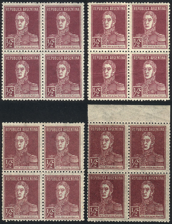 Lot 242 - Argentina general issues -  Guillermo Jalil - Philatino Auction #1922 ARGENTINA: General auction with very low starts!
