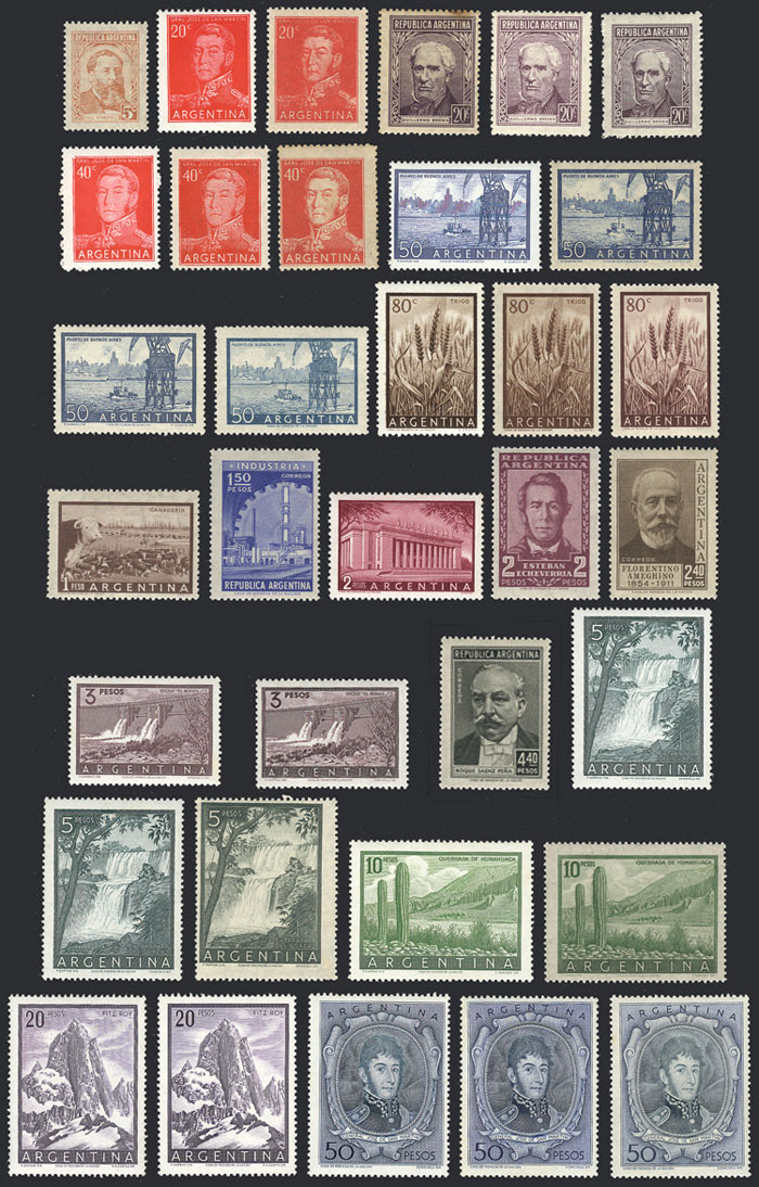 Lot 413 - Argentina general issues -  Guillermo Jalil - Philatino Auction #1922 ARGENTINA: General auction with very low starts!