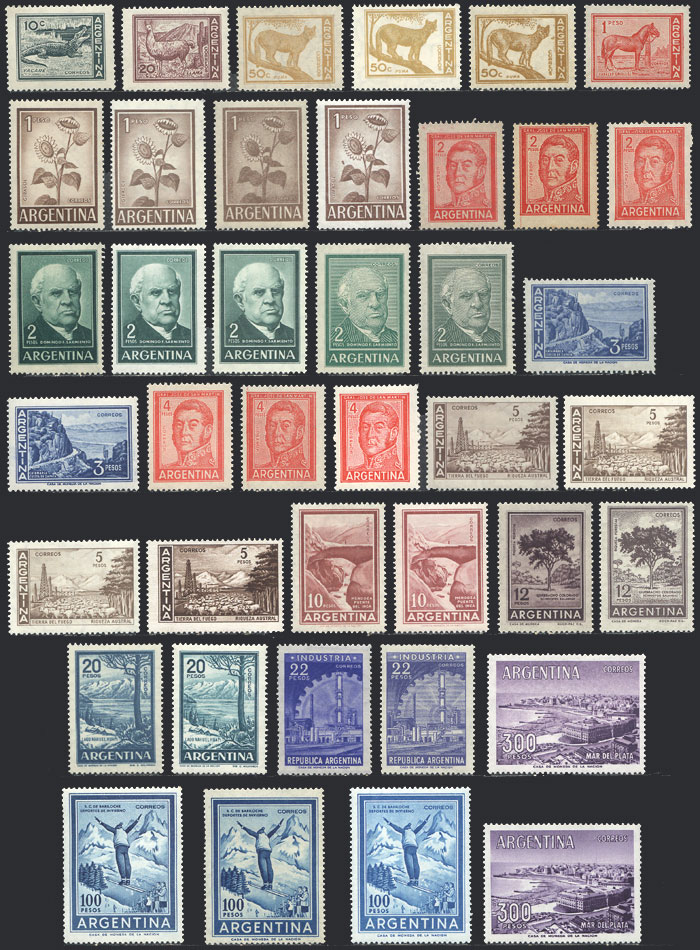 Lot 435 - Argentina general issues -  Guillermo Jalil - Philatino Auction #1922 ARGENTINA: General auction with very low starts!