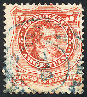Lot 108 - Argentina general issues -  Guillermo Jalil - Philatino Auction #1922 ARGENTINA: General auction with very low starts!