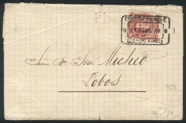 Lot 731 - Argentina postal history -  Guillermo Jalil - Philatino Auction #1922 ARGENTINA: General auction with very low starts!