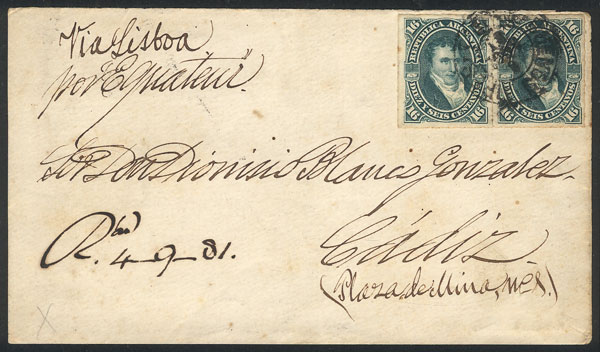 Lot 733 - Argentina postal history -  Guillermo Jalil - Philatino Auction #1922 ARGENTINA: General auction with very low starts!