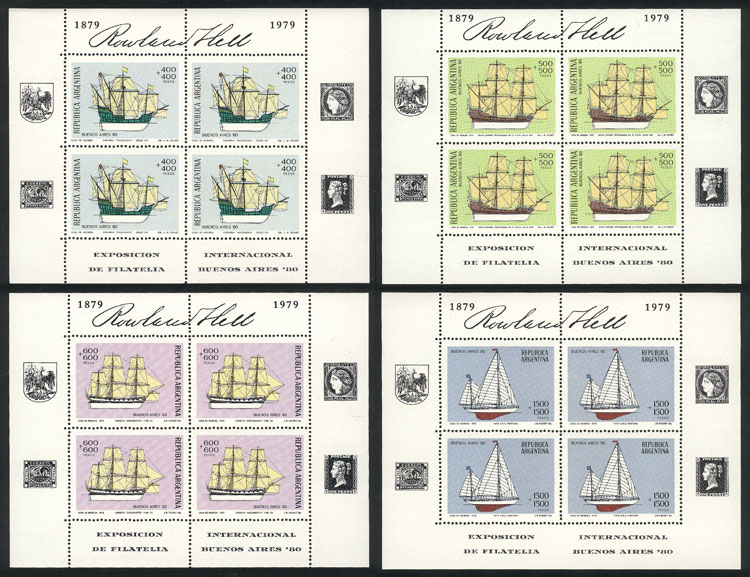 Lot 660 - Argentina SOUVENIE SHEETS -  Guillermo Jalil - Philatino Auction #1922 ARGENTINA: General auction with very low starts!