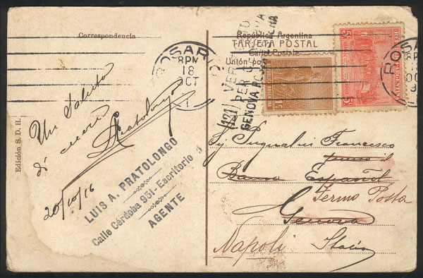 Lot 756 - Argentina postal history -  Guillermo Jalil - Philatino Auction #1922 ARGENTINA: General auction with very low starts!