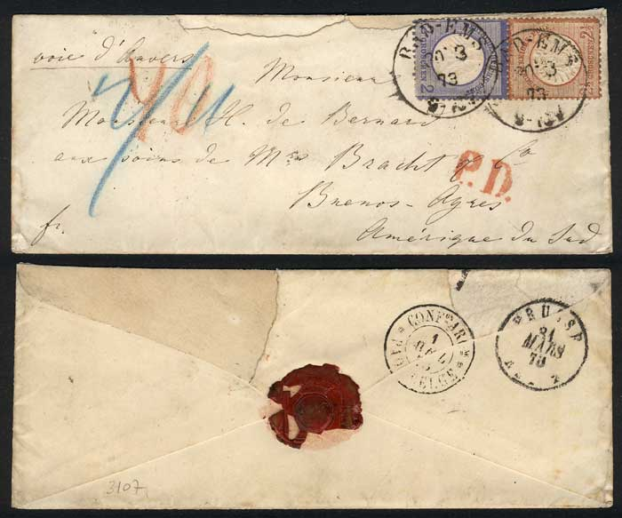 Lot 30 - germany postal history -  Guillermo Jalil - Philatino Auction #1924 WORLDWIDE + ARGENTINA: General June auction