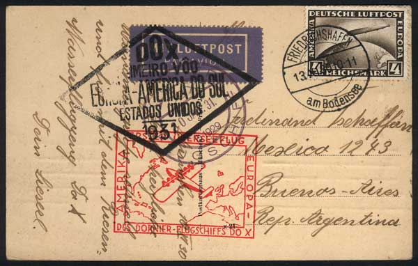 Lot 44 - germany postal history -  Guillermo Jalil - Philatino Auction #1924 WORLDWIDE + ARGENTINA: General June auction