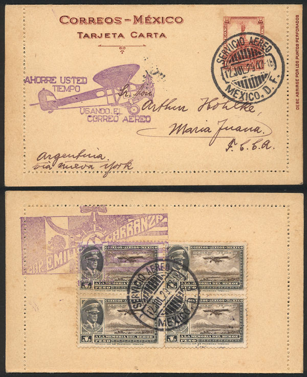 Lot 962 - Mexico postal history -  Guillermo Jalil - Philatino Auction #1924 WORLDWIDE + ARGENTINA: General June auction