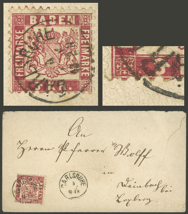 Lot 20 - germany Baden -  Guillermo Jalil - Philatino Auction #1924 WORLDWIDE + ARGENTINA: General June auction