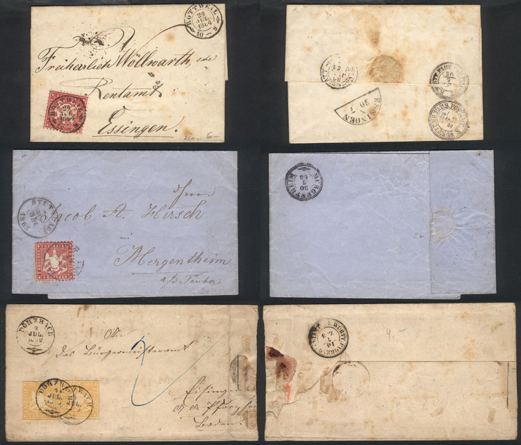 Lot 21 - germany Wurttemberg -  Guillermo Jalil - Philatino Auction #1924 WORLDWIDE + ARGENTINA: General June auction