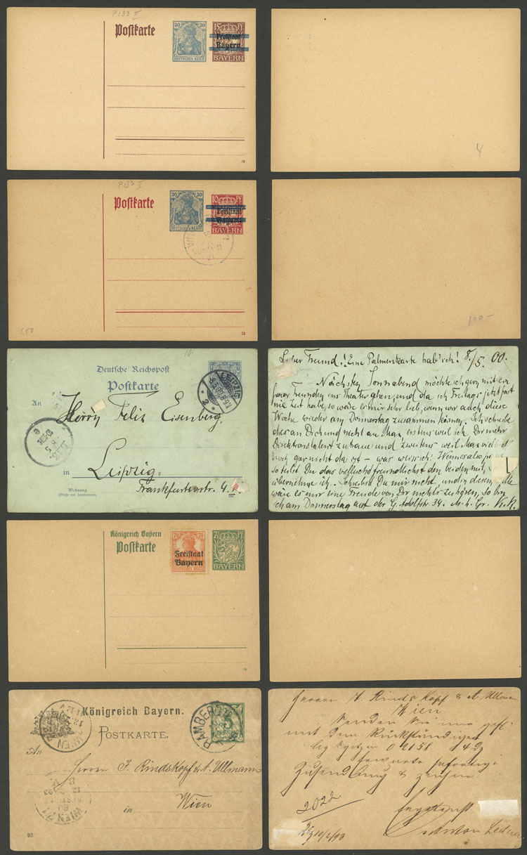 Lot 25 - germany Postal stationery -  Guillermo Jalil - Philatino Auction #1924 WORLDWIDE + ARGENTINA: General June auction