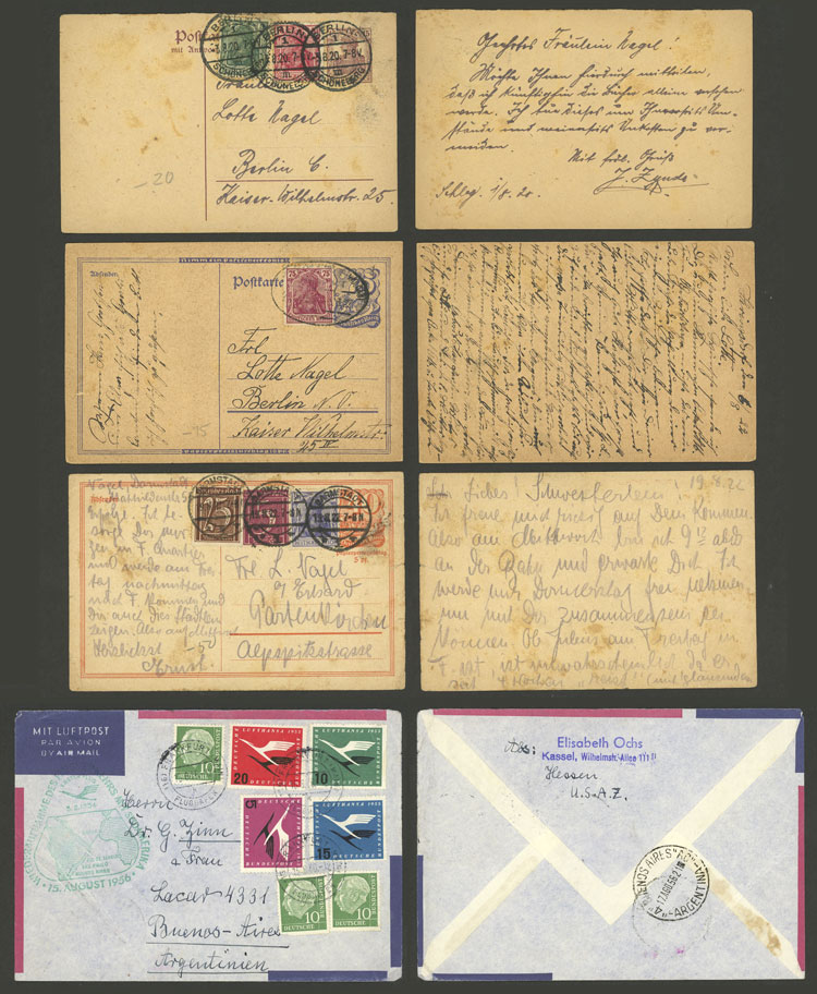 Lot 35 - germany postal history -  Guillermo Jalil - Philatino Auction #1924 WORLDWIDE + ARGENTINA: General June auction